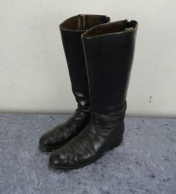 WW1 WW2 German officer soldier black uniform parade military dress leather boots