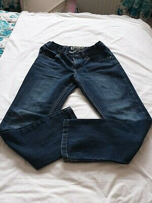 Boys LEE DARK BLUE SKINNY SUPER FIT STRAIGHT LEG JEANS 14R Years