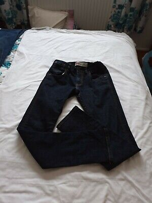 Levis 508 Slim Skinny Fit Dark Blue Jeans Regular Tapered Adjustable Age 14 Vgc