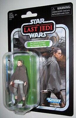 Star Wars 3.75 Vintage 2018 REY ISLAND JOURNEY The Last Jedi VC122 Exclusive