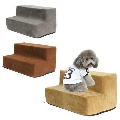 Pet Puppy Step 2 Steps Dog Cat Stairs Ladder Climb Ramp W/Cover for Couch or B