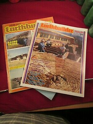 2 Adobe magazines House Building rammed earth / adobie DIY issues 43, 44