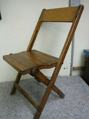 Rare Vintage Embs Radio Service Local Advertising Wooden Folding Chair