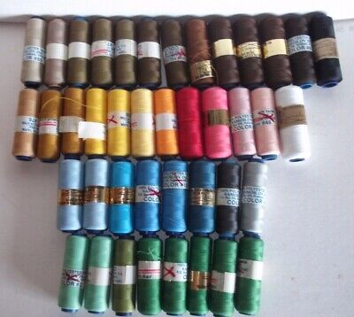Samoilov Punch Embroidery Thread Lot Of 41 Spools Polyester Multicolored