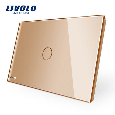 LIVOLO AU Standard Wall Crystal Glass Touch Light Switch Gold