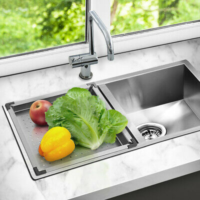 Kitchen Multi-purpose Stainless Steel Double Sink & Colander Square/Rectangle
