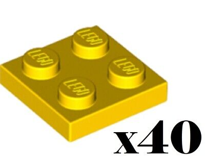 302224 4613978 Brick 3022 94148 LEGO NEW 2x2 Yellow Plate 10x