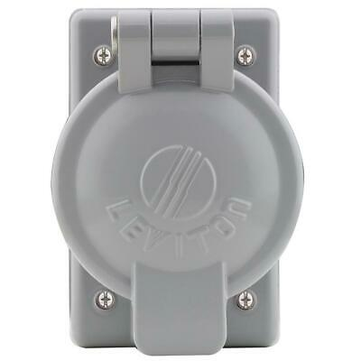 Leviton 1-Gang Weather-Resistant Cover Plate with Vertical Self Closing Lid