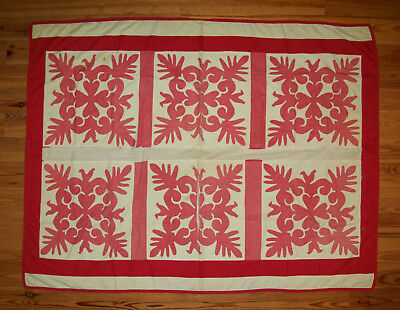 *READ BEFORE BUYING* Antique 1800s Pa Applique Quilt Nice Birds Hearts Needs TLC