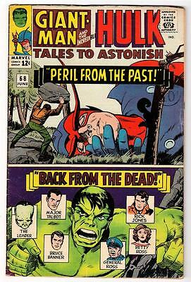 Marvel TALES TO ASTONISH 68 HULK ANT-MAN Pym GIANT MAN AVENGERS FN