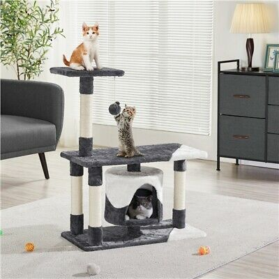 Cat Tree Tower Kitten Scratching Post Activity Center Bed House Furniture 90cm