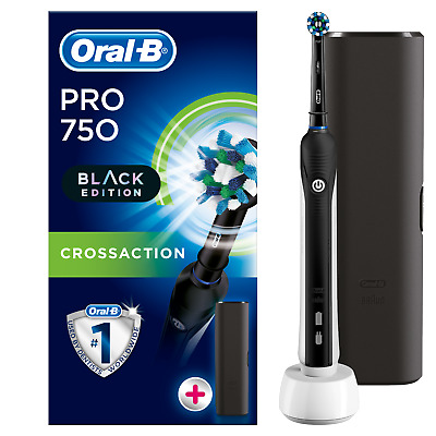 Oral-B Pro 750 Electric Toothbrush CrossAction Special Edition & Travel Case