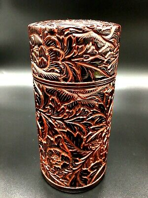 Japanese Lacquer Tea CADDY Container / Tea Container,