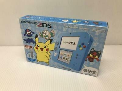 Nintendo 2DS Pokemon Center Special Edition Light Blue Pikachu Japan USED FS