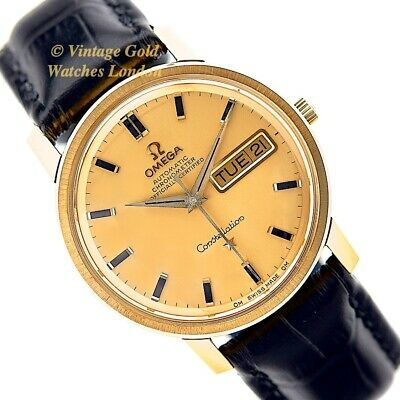 Omega Constellation, Calibre 751, 18Ct 1969 Day Date With Solid Gold Dial