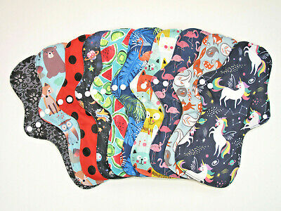 Reusable Charcoal Heavy Flow / Night Time / Maternity Cloth Sanitary Pad NEW!