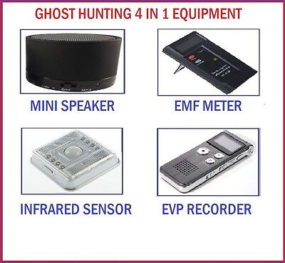 Ghost 4 Items - Emf Evp Spirit Hunt Sensor - Paranormal Hunting Equipment Kit