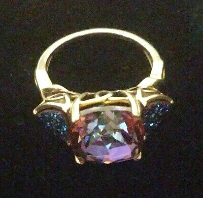 Cool Mystic Topaz Druzy Quartz Sterling Silver Ring