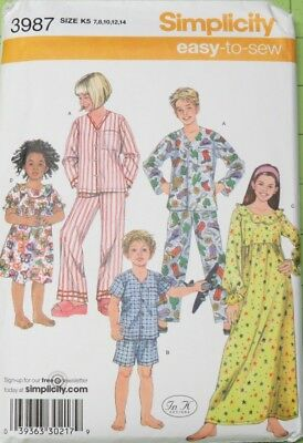 SIMPLICITY IT'S SEW Easy Sewing Patterns Child Girls Boys Tweens