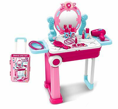 outlet store c263f fae0e PRETEND GIRLS KIDS Pink Dressing Table Make Up Beauty Vanity ...