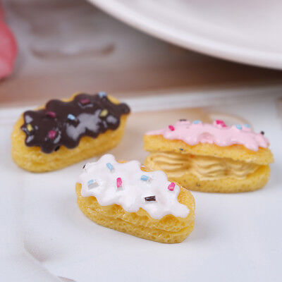 3x dollhouse miniature bread food breakfast snack dessert for dollhouse decor SL