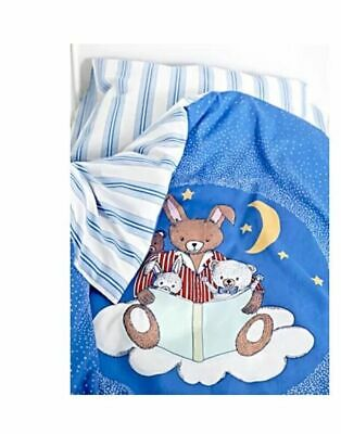 IKEA Sovdags 3 Piece Cot Set Bunny Rabbit Duvet Cover, Pillowcase, Fitted Sheet
