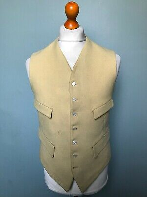 Vintage 1920's bespoke riding hunting waistcoat size 38 long