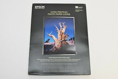 NEW Epson S041405 Ultra Premium Photo (Luster) Inkjet Paper 8.5x11 (50 Sheets)