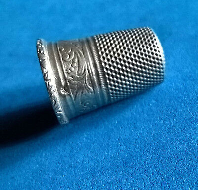 Antique Dé Sewing Silver/Antique French Silver Thimble