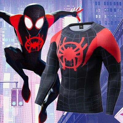 Spiderman 'Into The Spiderverse' Miles Morales Compression Long Sleeve Rashguard