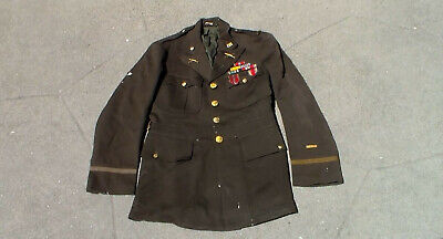 Old WW2 US 1941 dated Army Officer Dress Uniform Jacket Relic Used Condition