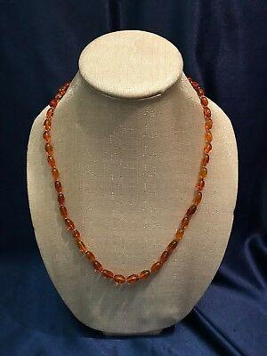 SUPER RARE Vintage Amber Necklace From Europe - Antique