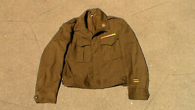 Old WW2 US 1945 dated Dress Uniform Ike Jacket Army Air Forces in Used Condition