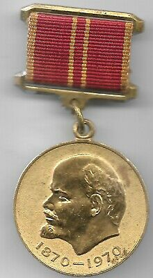 RARE Old CCCP Russian COLD WAR Vlad Lenin Russia Award Badge Collection Medal Y7