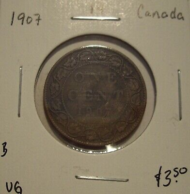 B Canada Edward VII 1907 Large Cent - VG
