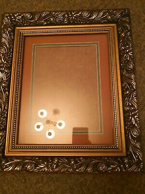 Vintage French Gilt Ornate Wooden Picture Glass Frame great for Oil Painting