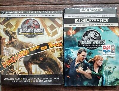 Jurassic Park World Complete Collection 4K + Bluray 5 Movies Mint No Digital