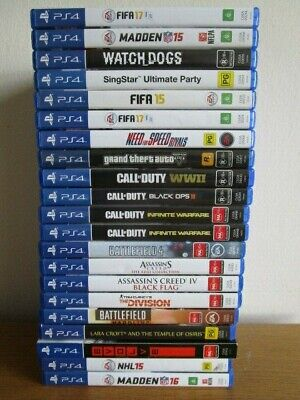 PS4 GAMES - Choose Your Titles - Free Postage   30 Day Warranty on