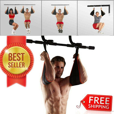 Sling AB Pull Up Straps Weight Lifting Door Hanging Gym Bar Abdominal Fitness US