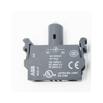 H● ABB MLBL-07R LED block Button base Pushbotton switches.