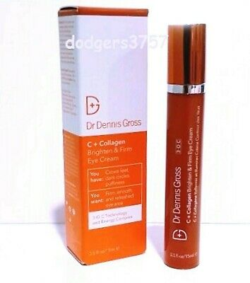 Dr Dennis Gross C + Collagen Brighten & Firm Eye Cream 0.5 OZ NEW BOX AMAZING!