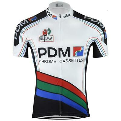 Retro PDM Ultima Chrome Cassettes Vintage Cycling Jersey