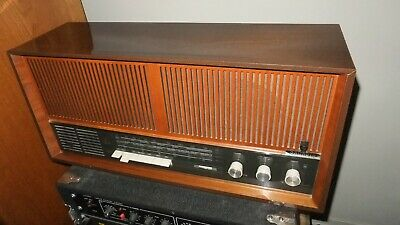 GRUNDIG 4670 U /STEREO Tube Radio AM/FM/SW - Vtg Stereo Amp - Wood Cab - Germany