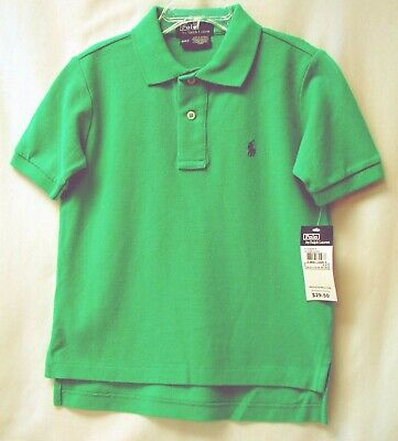 RALPH LAUREN POLO Toddlers S/S Pullover Cotton Polo-May Green-4T-NWT-$29.50