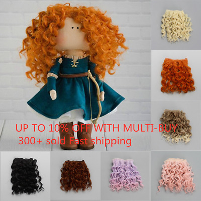15*100cm Mini Tresses High-Temperature Wire Mini Curly 16 Colors Doll Hair