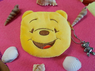 *** Winnie The Pooh Soft Plush Coin Purse With Zipper - With Skinny Eyes  # 10 A