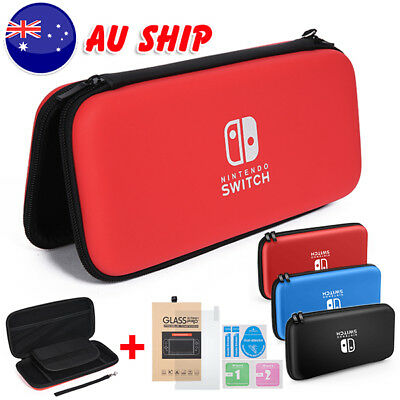 Carrying Case Storage Shell Cover Case + Tempered Glass for Nintendo Switch BZ