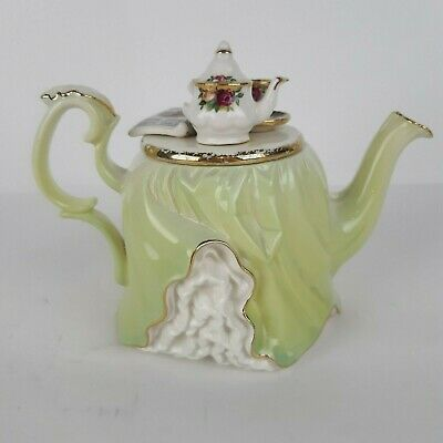 Royal Albert Old Country Roses 2 Cup Summer Ladies Teapot 1996 England Damage