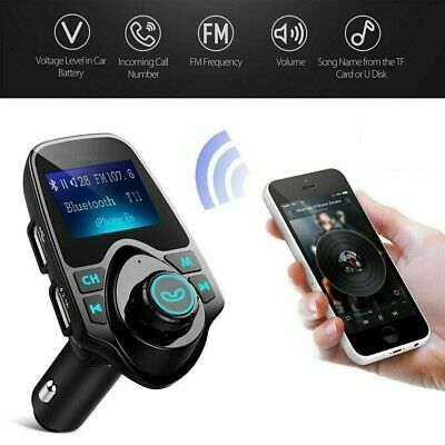 Wireless Bluetooth LCD Car MP3 FM Transmitter AUX USB Charger Handsfree
