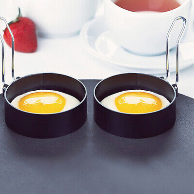 2Pc Nonstick Fried Egg Mold with Handle Round Pancake Molds Eggs Frying Mould~GN